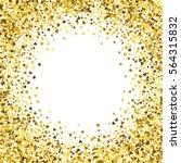 round gold frame or border of... | Shutterstock .eps vector #564315832