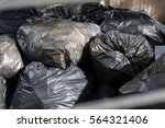 trash bags in the trash | Shutterstock . vector #564321406