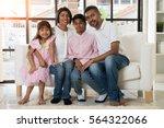 Indian Family Portrait Indoor