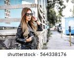 beautiful woman dressed in... | Shutterstock . vector #564338176