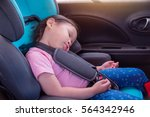 little asian girl sleeping on... | Shutterstock . vector #564342946