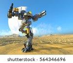 3d cg rendering of a battle... | Shutterstock . vector #564346696