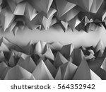 dark triangle poligons pattern... | Shutterstock . vector #564352942