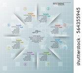 vector abstract 3d paper... | Shutterstock .eps vector #564355945