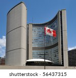 Stock photo toronto july toronto city hall got new flag for canada day on july 56437315