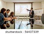 business man making a... | Shutterstock . vector #56437339