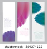 wellness spa yoga banner... | Shutterstock .eps vector #564374122