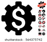 development cost pictograph... | Shutterstock .eps vector #564375742