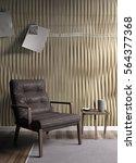 modern bright interior . 3d... | Shutterstock . vector #564377368
