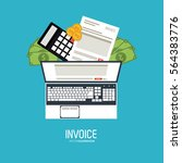 invoice design. money icon.... | Shutterstock .eps vector #564383776