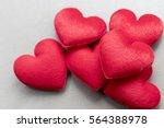love valentine's hearts on gray ... | Shutterstock . vector #564388978