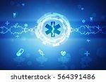 2d illustration medicine... | Shutterstock . vector #564391486