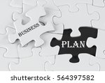 white puzzle with void in the... | Shutterstock . vector #564397582