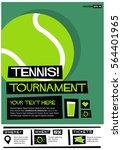 tennis tournament  flat style...   Shutterstock .eps vector #564401965