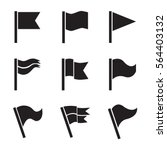 flag vector icon set isolated... | Shutterstock .eps vector #564403132