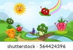 colorful illustration featuring ... | Shutterstock .eps vector #564424396