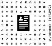 resume icon illustration... | Shutterstock .eps vector #564429526