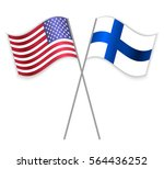 american and finnish crossed... | Shutterstock .eps vector #564436252