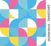 graphic circles seamless... | Shutterstock .eps vector #564451495