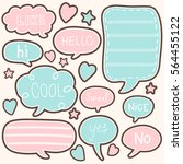 set of cute chat  talk  thought.... | Shutterstock .eps vector #564455122