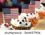 Close Up Of Patriotic Cup Cake...