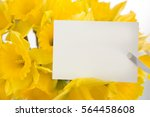 Small photo of Daffodils and greeting card for spring, Easter, Mother's Day or just because.