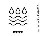 water icon or logo in modern... | Shutterstock .eps vector #564462226