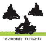 commercial lawn service... | Shutterstock .eps vector #564463468