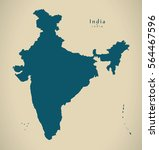 modern map   india country... | Shutterstock . vector #564467596