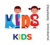 kids word like clothing. logo...   Shutterstock .eps vector #564469462