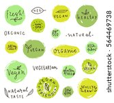 big set of food badges. can be... | Shutterstock .eps vector #564469738