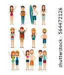 people cartoon icon set over... | Shutterstock .eps vector #564472126