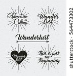 wanderlust emblems over white... | Shutterstock .eps vector #564473302