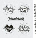wanderlust emblems over white... | Shutterstock .eps vector #564473302