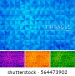 triangular abstract background. ... | Shutterstock .eps vector #564473902