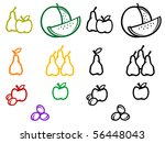set of fruits symbols. vector... | Shutterstock . vector #56448043