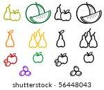 set of fruits symbols. vector... | Shutterstock . vector #56448043