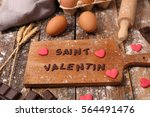 happy valentine's day with... | Shutterstock . vector #564491476