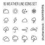 set of weather in modern thin... | Shutterstock .eps vector #564498496