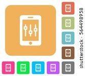 smartphone tweaking flat icons... | Shutterstock .eps vector #564498958