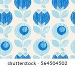 seamless geometric retro... | Shutterstock .eps vector #564504502