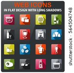food and kitchen icons set in... | Shutterstock .eps vector #564504748
