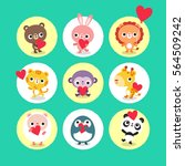 baby l animals in love   Shutterstock .eps vector #564509242