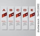 design clean number banners... | Shutterstock .eps vector #564512002