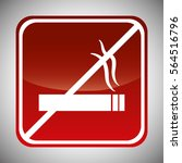 smoking forbidden icon image... | Shutterstock .eps vector #564516796