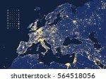 vector illustration of europe... | Shutterstock .eps vector #564518056