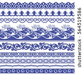 chinese porcelain seamless... | Shutterstock .eps vector #564519586
