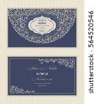 set of vintage wedding... | Shutterstock .eps vector #564520546