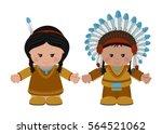 cartoon characters of american... | Shutterstock .eps vector #564521062