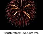 japanese fireworks | Shutterstock . vector #564525496